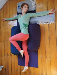 During high stress weeks, plan to do a restorative yoga practice.