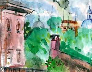 View from Residenza Terrace, Trastevere, Rome