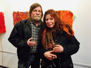 George & Marjorie, Guests at 10 February opening of INSIDEOUTSIDE at Kathryn Schultz Gallery