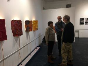 Guests at opening event, Feb 10 at Kathryn Schultz Gallery